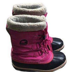 SOREL Pink Youth Yoot Pac Nylon Winter Boots Size6